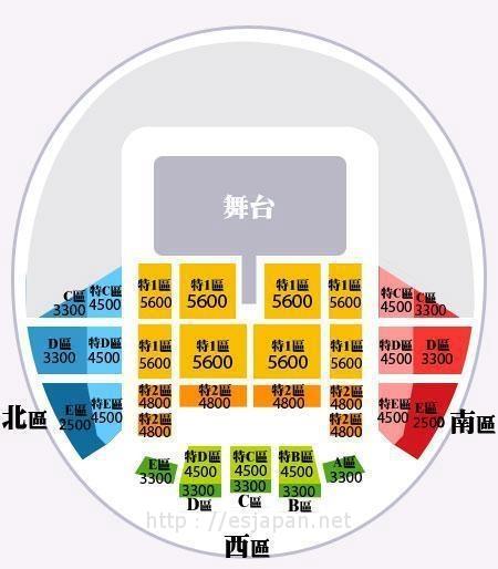 キム・ジュンス台湾座席表