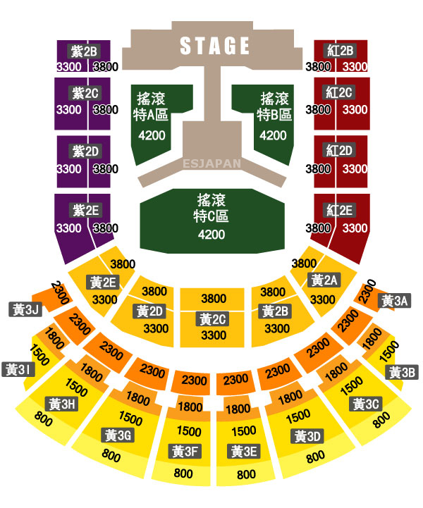 SHINee WORLD II in TAIPEI 座席表