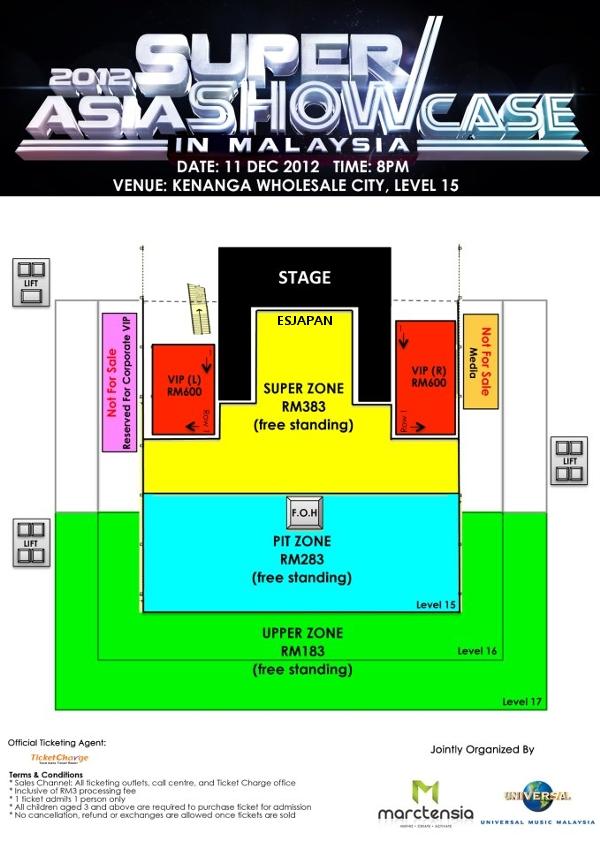 ASIA SUPER SHOWCASE in Malaysia 座席表