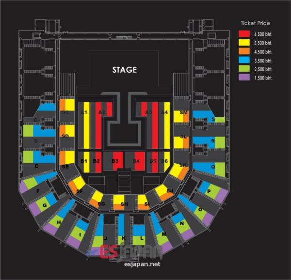 G-DRAGON タイ公演座席表