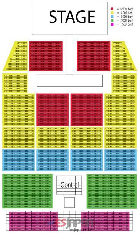 ジュンス タイ公演 座席表