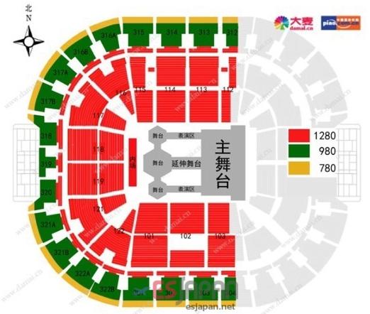 EXO北京座席表