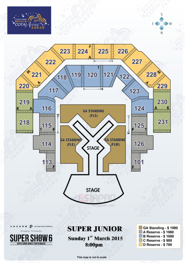 SS6マカオ座席表