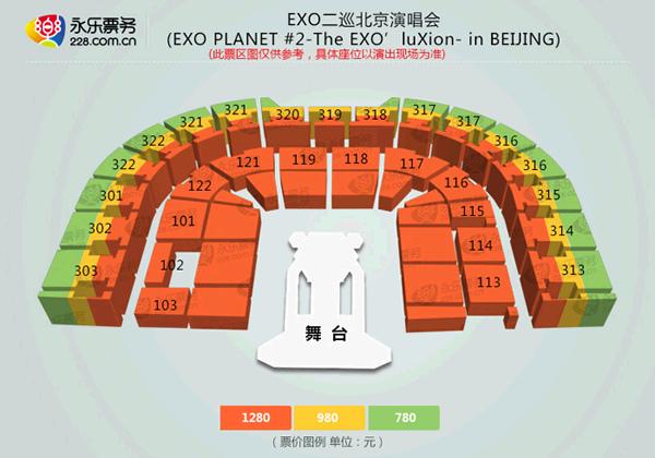 EXO北京 座席表