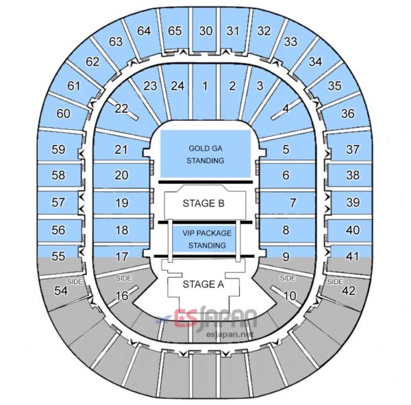 BIGBANGメルボルン座席表