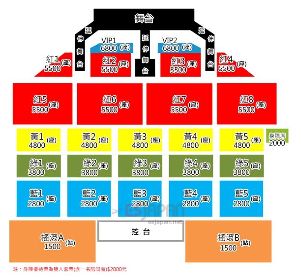CNBLUE台湾座席表