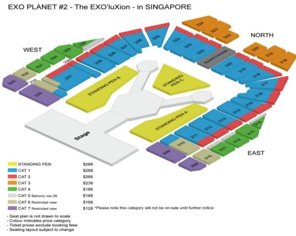 EXOシンガポール座席表