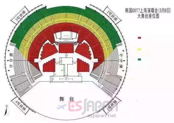 GOT7上海座席表
