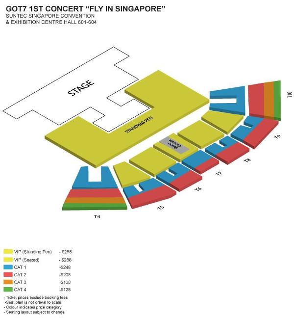 GOT7シンガポール座席表