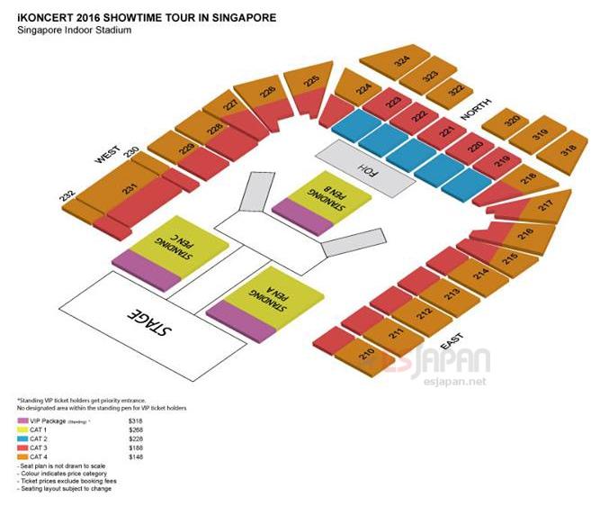 iKONシンガポール座席表
