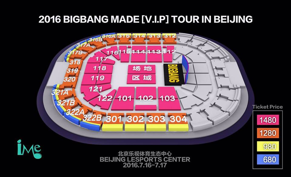 BIGBANG北京座席表