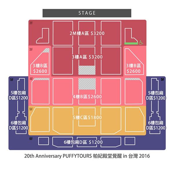 PUFFY台湾座席表