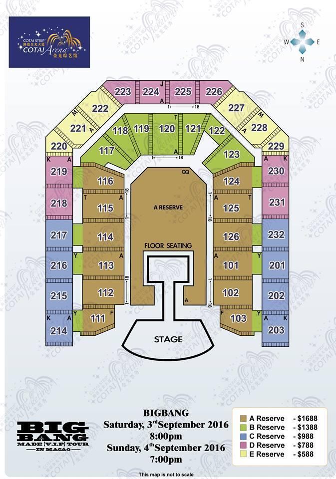 BIGBANGマカオ座席表