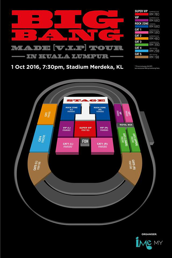 BIGBANGマレーシア座席表