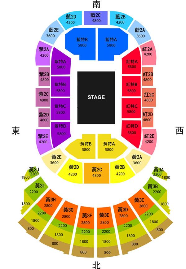 ジャッキーチュン台湾座席表