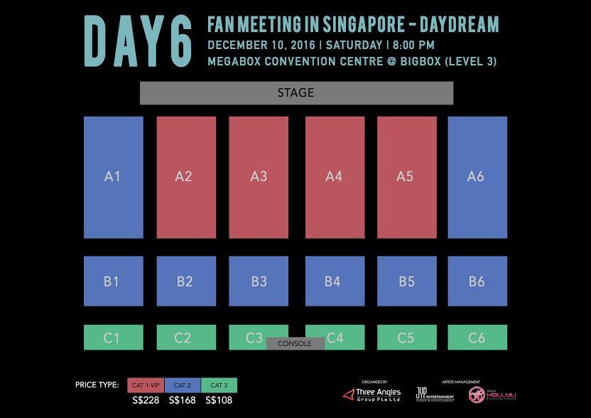 DAY6 シンガポール座席表