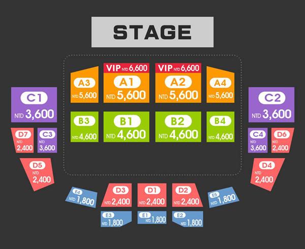 SISTAR台湾座席表