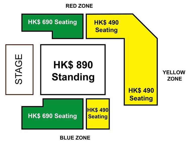 RADWIMPS香港座席表