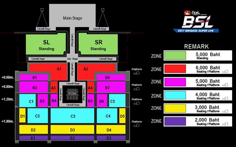 BANGKOK SUPER LIVE 座席表
