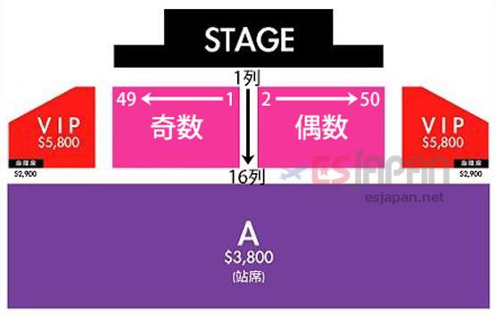 タオ台湾座席番号