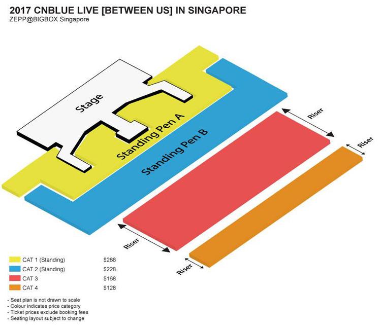 CNBLUEシンガポール座席表