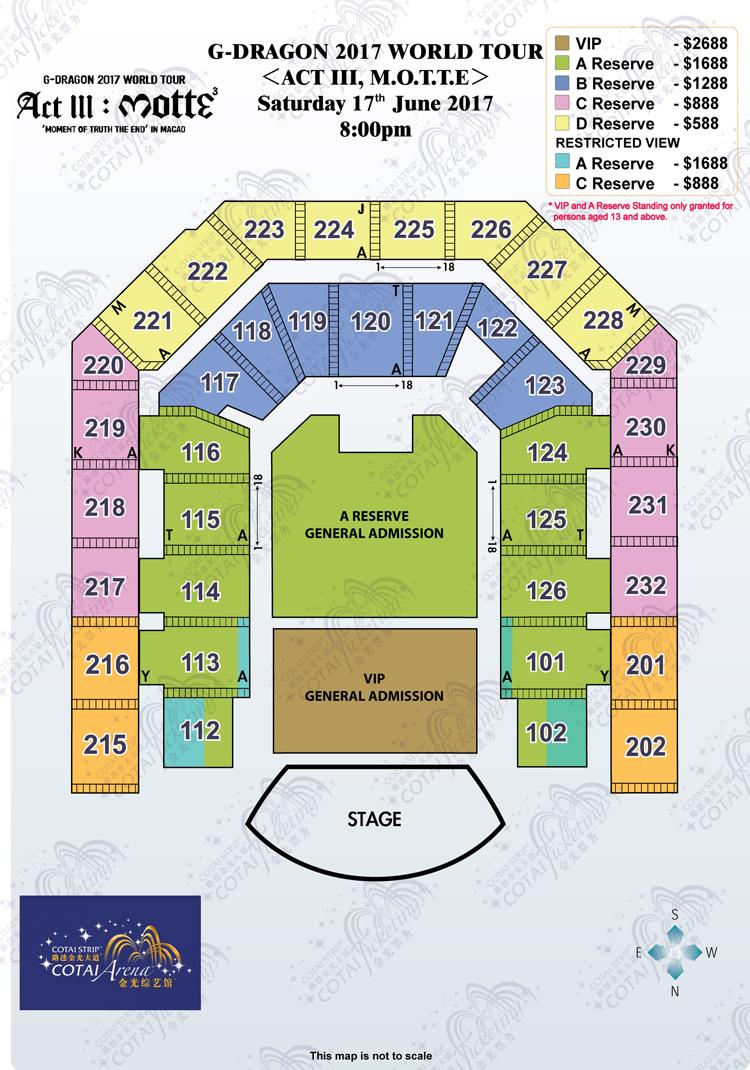 G-DRAGONマカオ座席表