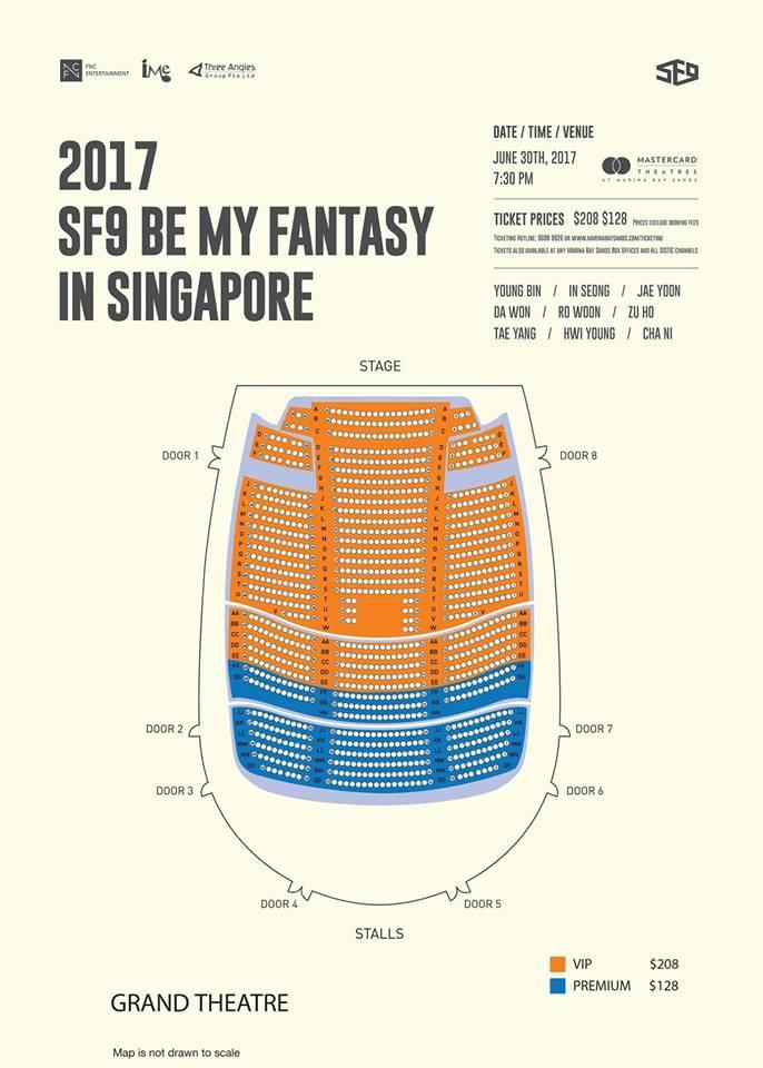 SF9シンガポール座席表