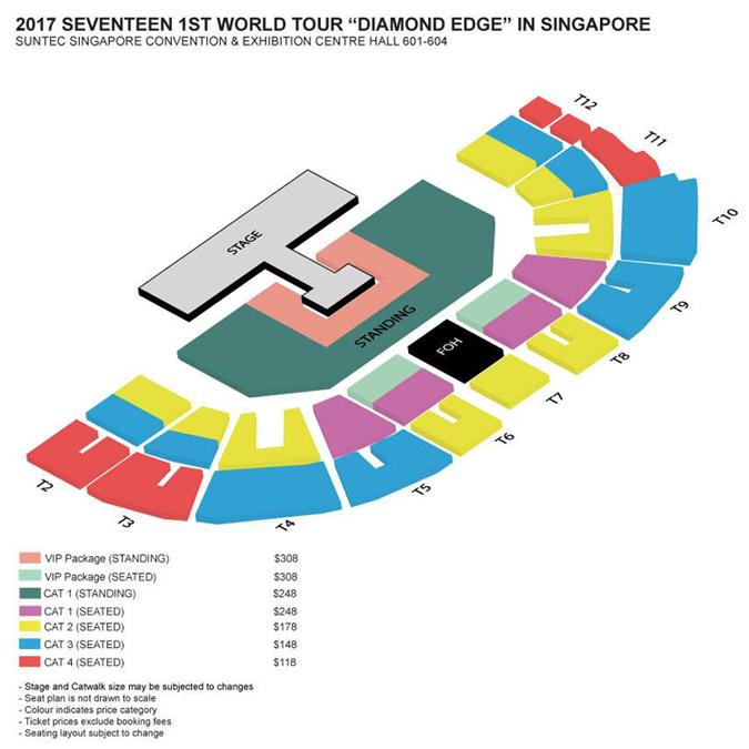 SEVENTEENシンガポール座席表