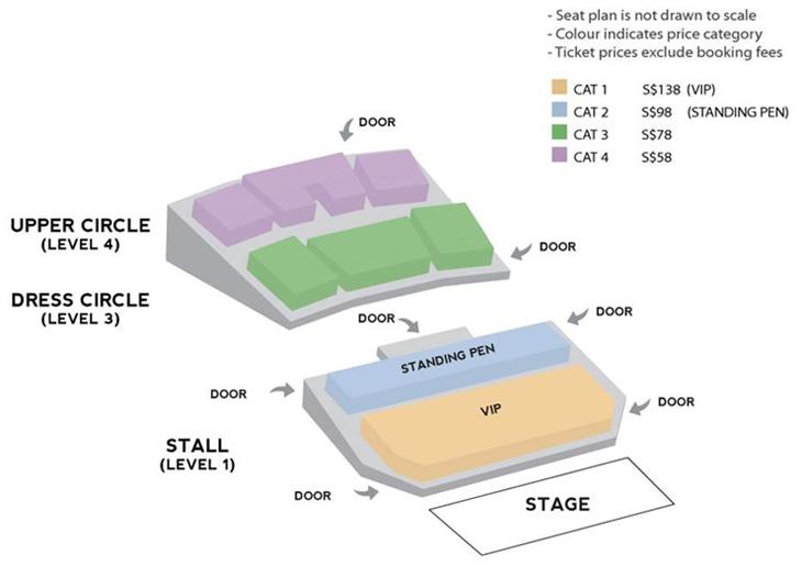 ゆずシンガポール座席表