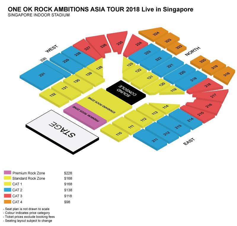 ワンオクシンガポール座席表