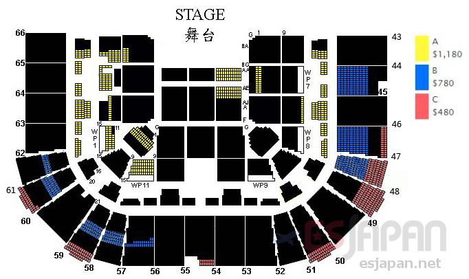 ジェイチョウ香港座席表