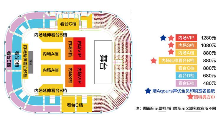 ラブライブ上海座席表