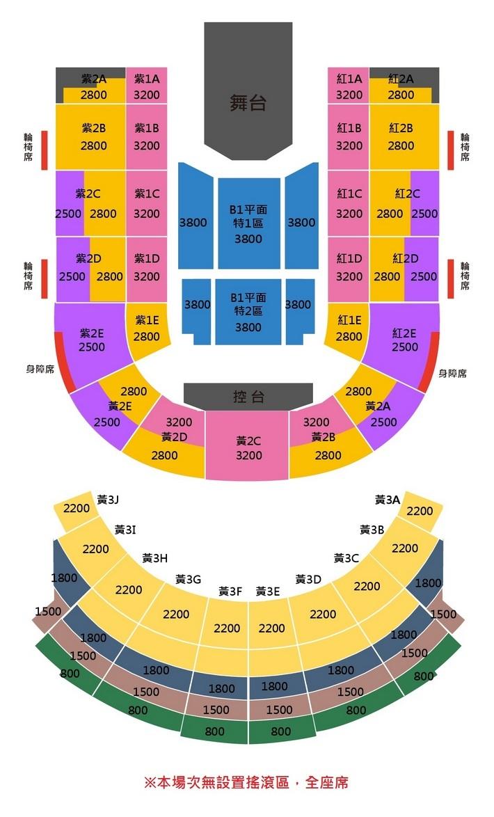 伍佰&China Blue台北座席表