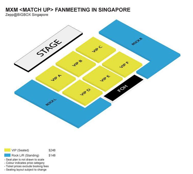 MXMシンガポール座席表