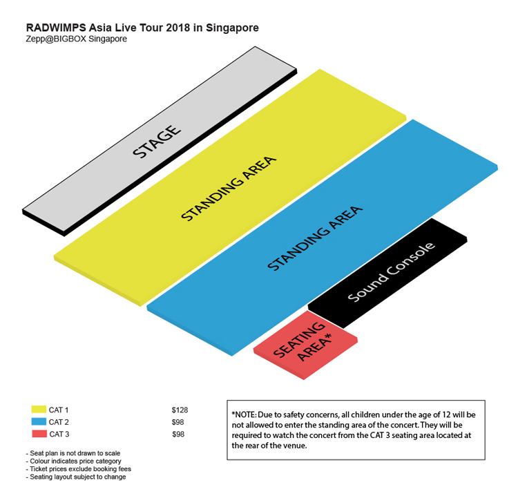 RADWIMPSシンガポール座席表