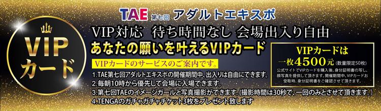 第7回 TAE 台湾成人博覧会VIP