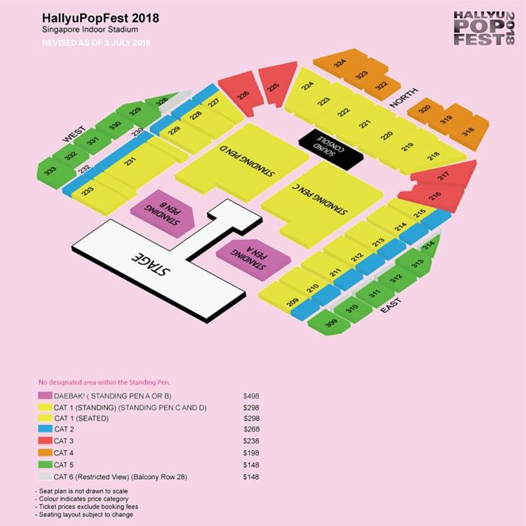 HALLYUPOPFESTシンガポール座席表