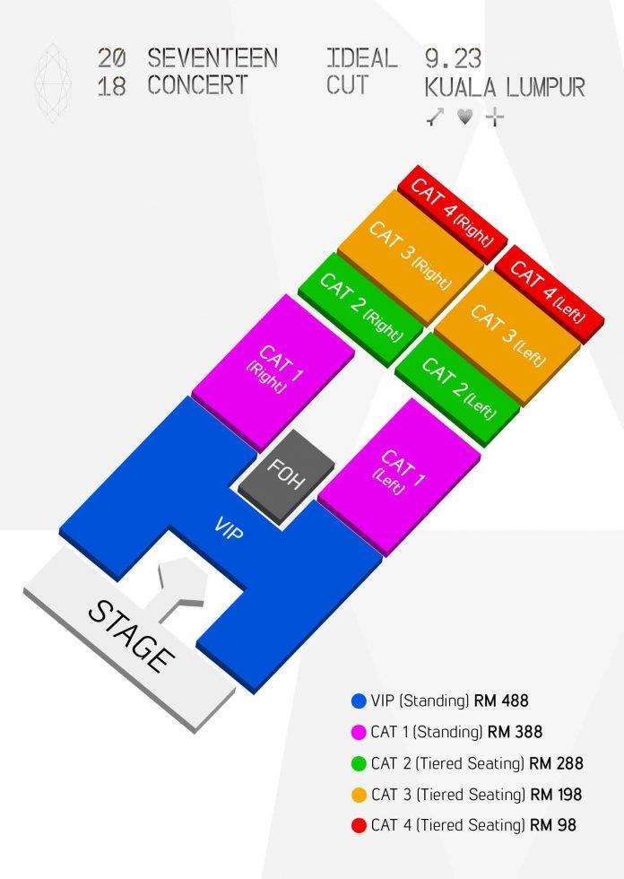 SEVENTEENマレーシア座席表