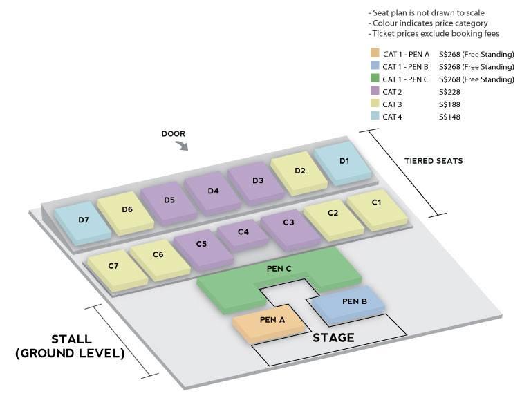iKON WINNER シンガポール座席表