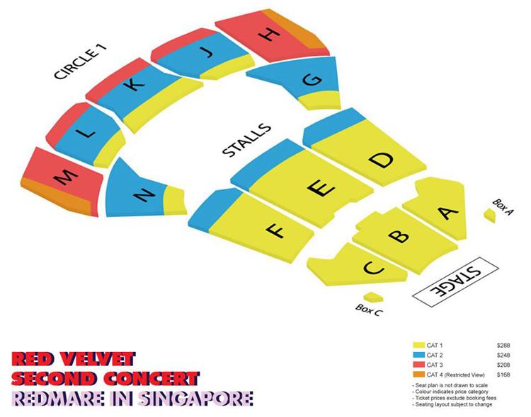 Red Velvetシンガポール座席表