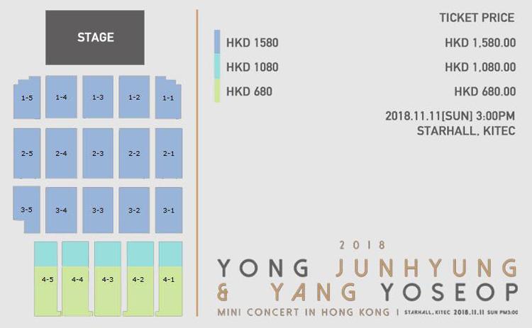 ジュンヒョン&ヨソプ香港座席表