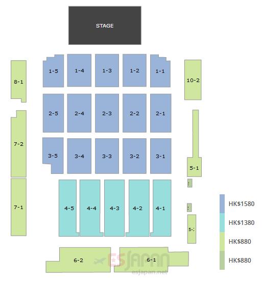ティファニー香港座席表