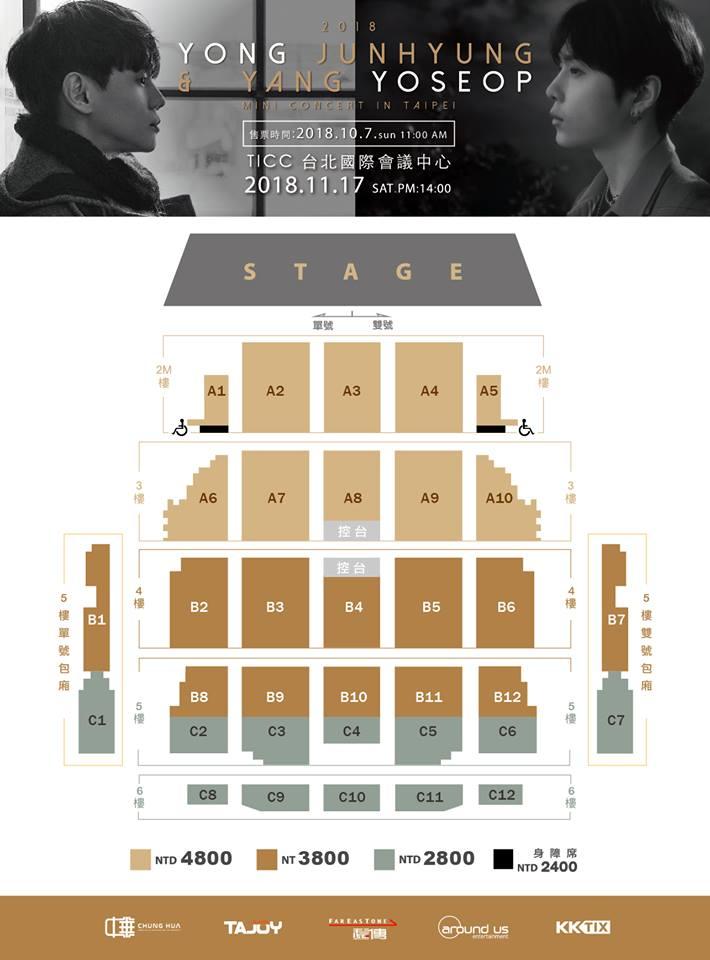 ジュンヒョン&ヨソプ台湾座席表