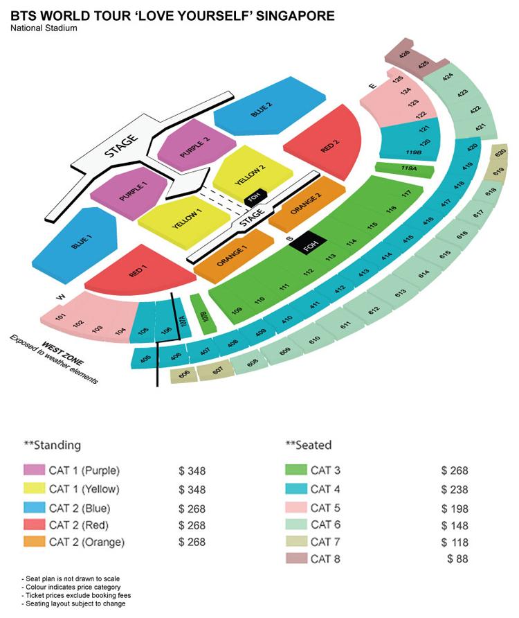 バンタンシンガポール座席表