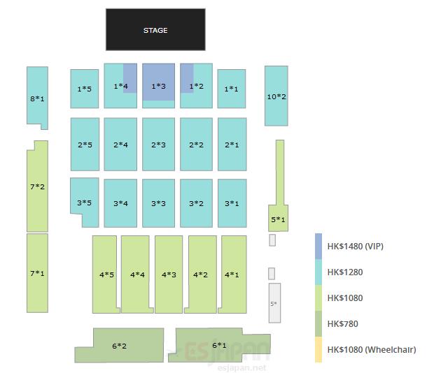 HYDE香港座席表