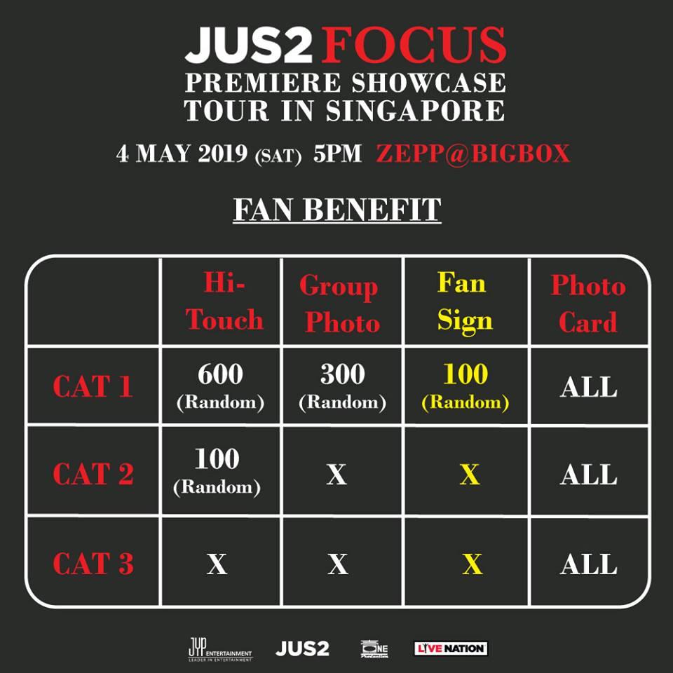 JUS2シンガポール特典