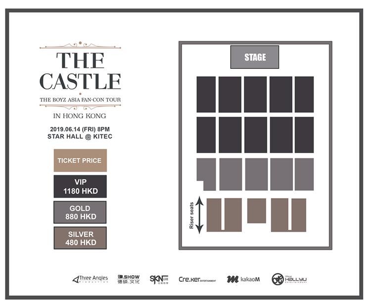 THE BOYZ香港座席表