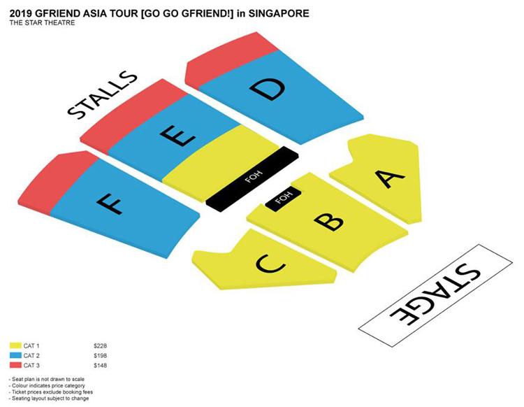 GFRIENDシンガポール座席表