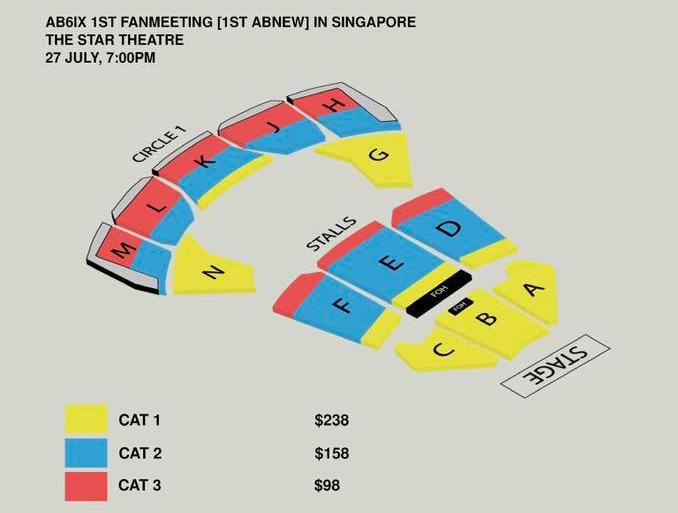AB6IXシンガポール座席表