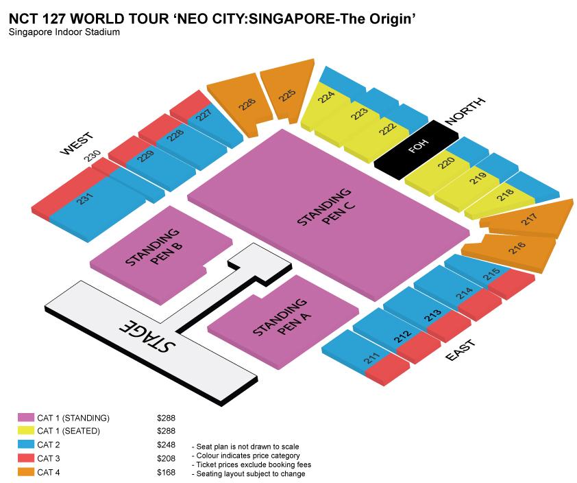 NCT127シンガポール座席表